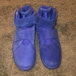 Blue Suede Nike High Tops